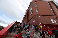 Football - 2016 / 2017 Premier League - Liverpool vs. Watford<br /> <br /> The new main stand before the match at Anfield.<br /> <br /> COLORSPORT