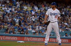 June 25, 2017 - Los Angeles, California, U.S. - Los Angeles Dodgers starting pitcher Clayton Kershaw during a Major League baseball game against the Colorado Rockies at Dodger Stadium on Saturday, June 24, 2017 in Los Angeles. Los Angeles Dodgers won 4-0. (Photo by Keith Birmingham, Pasadena Star-News/SCNG) (Credit Image: © San Gabriel Valley Tribune via ZUMA Wire)