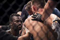 September 16, 2017 - Pittsburgh, Pennsylvania, USA - September 16, 2017: Uriah Hall approaches Krzysztof Jotko after winning by knock out in the second round during UFC Fight Night at PPG Paints Arena in Pittsburgh, Pennsylvania. (Credit Image: © Scott Taetsch via ZUMA Wire)