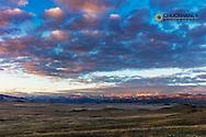 Beautiful sunrise clouds above the Camas Prairie, Montana, USA