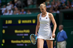 LONDON, ENGLAND - Wednesday, July 3, 2019: Karolina Pliskova (CZE) during the Ladies' Singles second round match on Day Three of The Championships Wimbledon 2019 at the All England Lawn Tennis and Croquet Club. (Pic by Kirsten Holst/Propaganda)