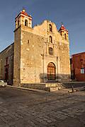 The Templo de la Preciosa Sangre de Cristo or Temple of the Blood of Christ in the historic district in Oaxaca, Mexico.