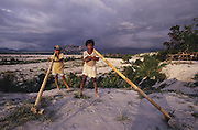 Asia, Philippines, Central Luzon, After the Pinatubo volcano eruption. Many indigenous people last their land and which was covered with ash. Communities were made homeless. Photograph © Nigel Dickinson