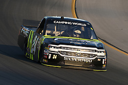 July 12, 2018 - Sparta, KY, U.S. - SPARTA, KY - JULY 12: Justin Haley (24) Fraternal Order Of Eagles Chevrolet Silverado works his way through turn four during the NASCAR Camping World Truck Series Buckle Up In Your Truck 225 on July 12th, 2018, at Kentucky Speedway in Sparta, Kentucky. (Photo by Michael Allio/Icon Sportswire) (Credit Image: © Michael Allio/Icon SMI via ZUMA Press)