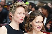 Thea Sharrock, Emilia Clarke, Me Before You - UK film premiere, Curzon Mayfair, London UK, 25 May 2016, Photo by Richard Goldschmidt