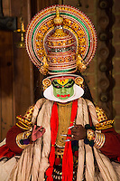 Kathakali Performance - Kathakali is a  classical Indian dance drama noted for the attractive makeup of the characters, elaborate costumes, defined gestures and presented iwith background drumming. . It originated in Kerala during the seventeenth century and is a popular form of entertainment in Kerala state.
