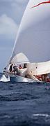 Astor sailing in the Windward Race at the Antigua Classic Yacht Regatta.