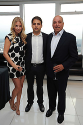MARISSA MONTGOMERY, JAMIE REUBEN and his father  DAVID REUBEN at The Reuben Foundation and Virgin Unite Haiti Fundraising dinner held at Altitude 360 in Millbank Tower, London on 26th May 2010.