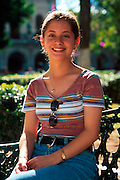 MEXICO, PORTRAITS Oaxaca, portrait of a teenager in the Zocalo or main plaza
