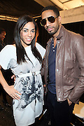 l to r: Sharon Carpenter and Ryan Leslie at This Day/Arise Magazine: African Fashion Collective 2009 held at The Promenade at the 2009 Fall Fashion Week at Bryant Park, NYC