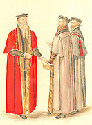 Lord Mayor and Aldermen in the time of Elizabeth I. 16th century.