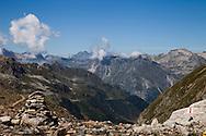 Le montagne viste dal Passo del Muretto