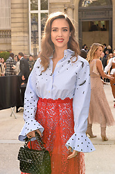 Jessica Alba arriving at the Valentino show as a part of Paris Fashion Week Ready to Wear Spring/Summer 2017 on October 2, 2016 in Paris, France. Photo by Julien Reynaud/APS-Medias/ABACAPRESS.COM