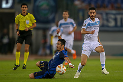 September 20, 2018 - Rome, Lazio, Italy - 20th September 2018, Stadio Olimpico, Rome, Italy; UEFA Europa League football, Lazio versus Apollon Limassol; Hectoir Yuste of Apollon Limassol challenges Luis Alberto of Lazio  Credit: Giampiero Sposito/Pacific Press (Credit Image: © Giampiero Sposito/Pacific Press via ZUMA Wire)