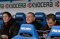 Photo: Gareth Davies.<br />Reading v Sheffield United. The Barclays Premiership. 20/01/2007.<br />Sheffield United players Robert Kozluk (L), Paddy Kenny (C) and Alan Quinn (R) get ready for their match against Reading.