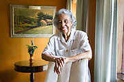 """Irene Thompson at her East Austin home designed by John Chase, who was the first African American architecture student at the University of Texas at Austin. """"This house has influenced a lot of things going into politics and desegregation,"""" said Thompson. Dustin Safranek for AMERICAN-STATESMAN"""