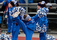 Newburgh, New York - Middletown cheerleaders cheer on the sidelines during the Orange County Youth Football League Division II Super Bowl at Newburgh Free Academy on  Nov. 22, 2014.