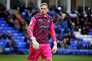 Wycombe goalkeeper Ryan Allsop (1) during the EFL Sky Bet League 1 match between Peterborough United and Wycombe Wanderers at London Road, Peterborough, England on 2 March 2019.
