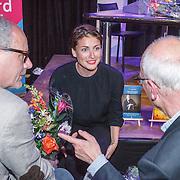 NLD/Amsterdam/20150518 - Uitreiking Storytel Luisterboek Award , Vivienne van Assem in gesprek met Kees Hulst en P.F. Thomese