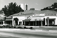 1973 The Penny Arcade Store and other stores on Sunset Blvd. near Sunset Plaza Dr.