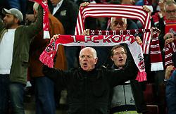 Cologne fans hold up scarfs - Mandatory by-line: Robbie Stephenson/JMP - 23/11/2017 - FOOTBALL - RheinEnergieSTADION - Cologne,  - Cologne v Arsenal - UEFA Europa League Group H