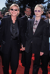 Sep 13, 1998 - Los Angeles, CA, USA - American actress and stand-up comedian ELLEN LEE DEGENERES (born January 26, 1958) with actress ANNE HECHE, wearing suits by Gucci, at the 50th Annual Primetime Emmy Awards held at Shrine Auditorium. (Credit Image: © Kathy Hutchins/ZUMA Press)