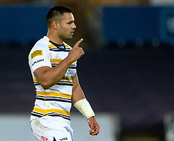 Ben Te'o of Worcester Warriors<br /> <br /> Photographer Simon King/Replay Images<br /> <br /> European Rugby Challenge Cup Round 5 - Ospreys v Worcester Warriors - Saturday 12th January 2019 - Liberty Stadium - Swansea<br /> <br /> World Copyright © Replay Images . All rights reserved. info@replayimages.co.uk - http://replayimages.co.uk