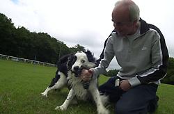 Eddie Sander with his Dogs Jackson and Inka<br /><br />18 June 2004<br /><br />Copyright Paul David Drabble<br /> [#Beginning of Shooting Data Section]<br />Nikon D1 <br /> Focal Length: 17mm<br /> Optimize Image: <br /> Color Mode: <br /> Noise Reduction: <br /> 2004/06/18 09:36:42.4<br /> Exposure Mode: Manual<br /> White Balance: Auto<br /> Tone Comp: Normal<br /> JPEG (8-bit) Fine<br /> Metering Mode: Center-Weighted<br /> AF Mode: AF-S<br /> Hue Adjustment: <br /> Image Size:  2000 x 1312<br /> 1/200 sec - F/8<br /> Flash Sync Mode: Not Attached<br /> Saturation: <br /> Color<br /> Exposure Comp.: 0 EV<br /> Sharpening: Normal<br /> Lens: 17-35mm F/2.8-4<br /> Sensitivity: ISO 200<br /> Image Comment: <br /> [#End of Shooting Data Section]