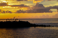 Indonesia, Sulawesi, Manado. Sunset seen from Sunset Cafe in Manado city.