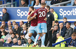 West Ham United's Andriy Yarmolenko (right) is substituted off for Robert Snodgrass during the game