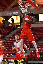 "07 October 2016: Douda ""David"" Ndiaye during the Illinois State Redbirds Hoopfest at Redbird Arena in Normal Illinois (Photo by Alan Look)"