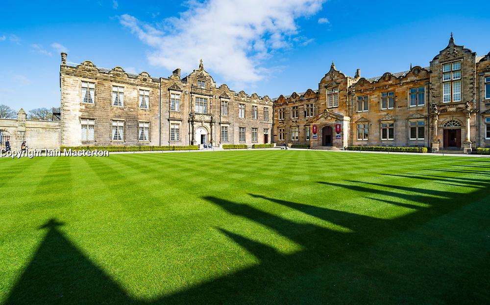 St Salvator's Quad at St Andrews University, St Andrews, Fife, Scotland, UK