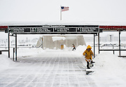 Feb 10,2010 - Chantilly, Va USA - Washington Dulles International Airport was all but deserted on Wednesday as fights were cancelled for 24 hours due to blizzard conditions. (Credit Image: ©Pete Marovich/ZUMA Press)