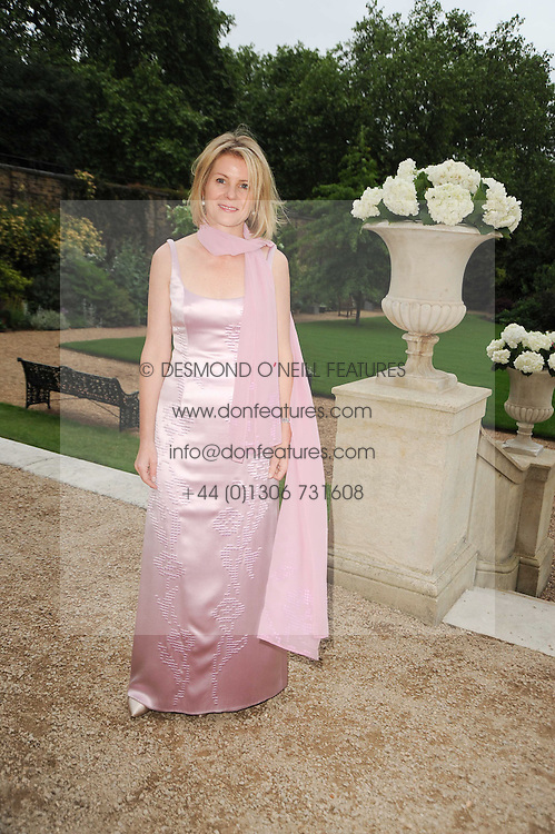 VISCOUNTESS LINLEY at a dinner hosted by HRH Prince Robert of Luxembourg in celebration of the 75th anniversary of the acquisition of Chateau Haut-Brion by his great-grandfather Clarence Dillon held at Lancaster House, London on 10th June 2010.