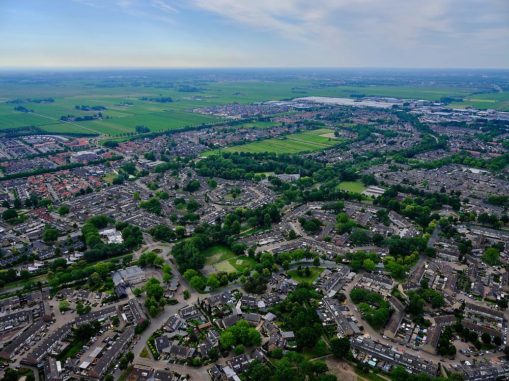 Nederland, Utrecht, Bunschoten-Spakenburg; 21–06-2020; nieuwbouwwijk van Bunschoten-Spakenburg.<br /> <br /> luchtfoto (toeslag op standaard tarieven);<br /> aerial photo (additional fee required)<br /> copyright © 2020 foto/photo Siebe Swart