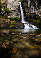 NATIONAL PARK LOS GLACIARES, ARGENTINA - CIRCA FEBRUARY 2019: Waterfall Chorrillo del Salto close to El Chalten in National Park los Glaciares in Argentina.