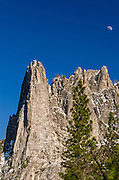 Moonrise over Sentinel Rock, Yosemite National Park, California