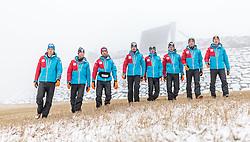 02.12.2015, Lillehammer, NOR, OESV, Nordische Kombinierer, Fotoshooting, im Bild v.l.: Harald Lemmerer, Bernhard Gruber, Willi Denifl, Lukas Klapfer, Fabian Steindl, Paul Gerstgraser, Philipp Orter und Mario Seidl (AUT) // Harald Lemmerer, Bernhard Gruber, Willi Denifl, Lukas Klapfer, Fabian Steindl, Paul Gerstgraser, Philipp Orter und Mario Seidl during the Photoshooting of the Ski Austria Nordic Combined Team in Lillehammer on 2015/12/02 . EXPA Pictures © 2015, PhotoCredit: EXPA/ JFK