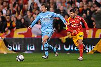FOOTBALL - FRENCH CHAMPIONSHIP 2009/2010  - L1 - RC LENS v OLYMPIQUE MARSEILLE - 28/11/2009 - PHOTO JULIEN CROSNIER / DPPI - FERNANDO MORIENTES (OM)