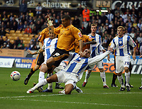 Photo: Rich Eaton.<br /> <br /> Wolverhampton Wanderers v Sheffield Wednesday. Coca Cola Championship. 28/10/2006. Jay Bothroyd of Wolves #10 is tackled in the Wednesday box