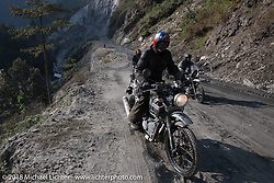 Round the World Doug Wothke on Day-7 of our Himalayan Heroes adventure riding from Tatopani to Pokhara, Nepal. Monday, November 12, 2018. Photography ©2018 Michael Lichter.