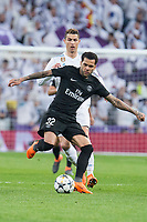Real Madrid Cristiano Ronaldo and PSG Dani Alves during Eight Finals Champions League match between Real Madrid and PSG at Santiago Bernabeu Stadium in Madrid , Spain. February 14, 2018. (ALTERPHOTOS/Borja B.Hojas)