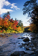 Image of the Swift River near Kancamagus Highway in the fall, New Hampshire, American Northeast by Randy Wells