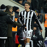 Besiktas's Mario Gomez (R) during their Turkish Super League soccer match Kayserispor between Besiktas at the Kadir Has Stadium in Kayseri Turkey on Saturday 05 December 2015. Photo by Kurtulus YILMAZ/TURKPIX