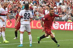 AS Roma vs Genoa as part of the Calcio Football Series held at the Stadio Olimpico in Rome, Italy. 28 May 2017 Pictured: Esultanza Gol Daniele De Rossi Roma Goal celebration. Photo credit: Insidefoto / MEGA TheMegaAgency.com +1 888 505 6342