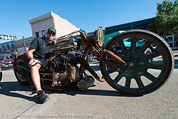 Steam punk on Main Street during the 75th Annual Sturgis Black Hills Motorcycle Rally.  SD, USA.  August 1, 2015.  Photography ©2015 Michael Lichter.