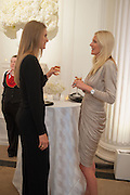 JULIE HENDERSON; MARIA WIGGIN; , Cartier Tank Anglaise launch. Kensington Palace Orangery, London.  19 April 2012.