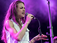 German neo-soul singer-songwriter Leona Berlin supporting Morcheeba at Gibson Club during the W-Festival in Frankfurt