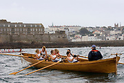 St Peter's Port, Guernsey, CHANNEL ISLANDS,    Cornish Gig, waiting for the start of Sat's. Ladies Race, 2006 British and International Coastal Rowing  Rowing Challenge, Ladies Classes, 02/09/2006.  Photo  Peter Spurrier, © Intersport Images,  Tel +44 [0] 7973 819 551,  email images@intersport-images.com