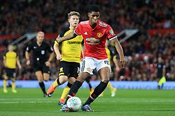 20th September 2017 - Carabao Cup (3rd Round) - Manchester United v Burton Albion - Marcus Rashford of Man Utd scores their 1st goal - Photo: Simon Stacpoole / Offside.